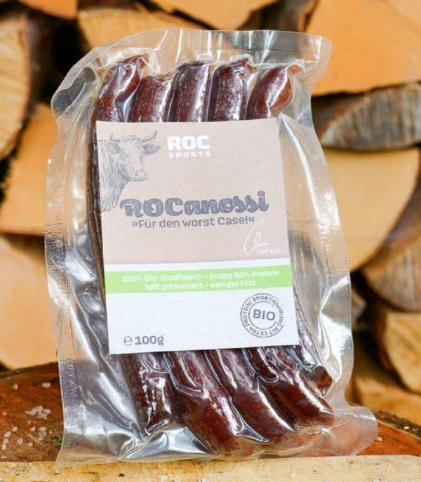 RoC-Sports | Shop | Bio Sportnahrung | Bio Rocanossi Proteinwürstchen