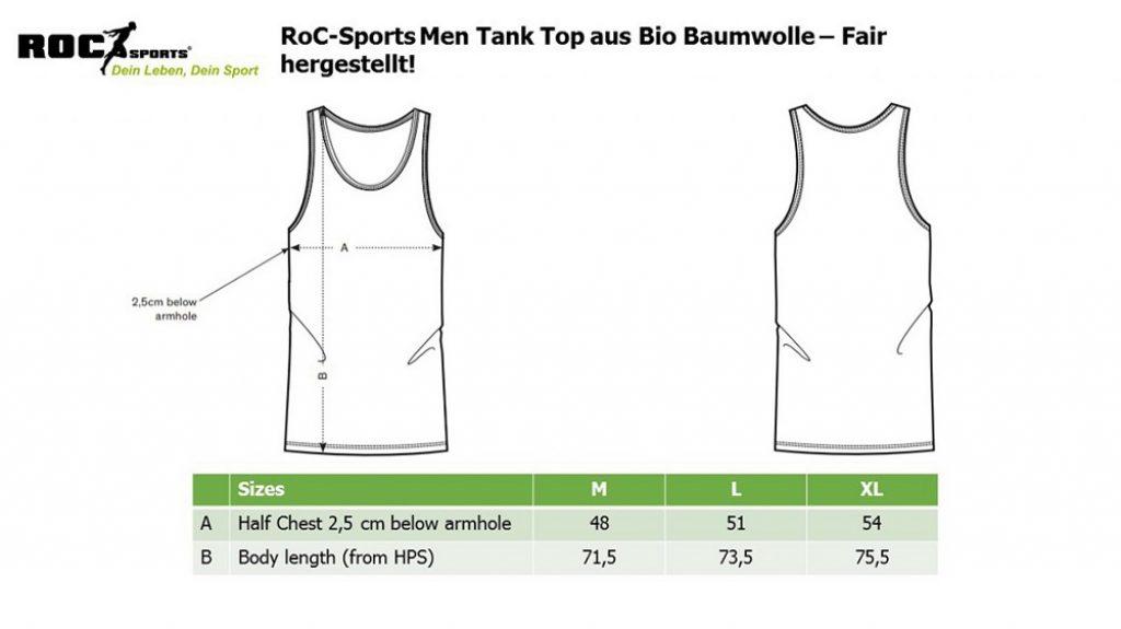 RoC-Sports | Shop | Bekleidung | Bio Baumwoll Tanktop - Sustainable Growth