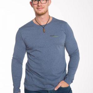 RoC-Sports | Bio Baumwoll Langarm Shirt | Dark Heather Blue