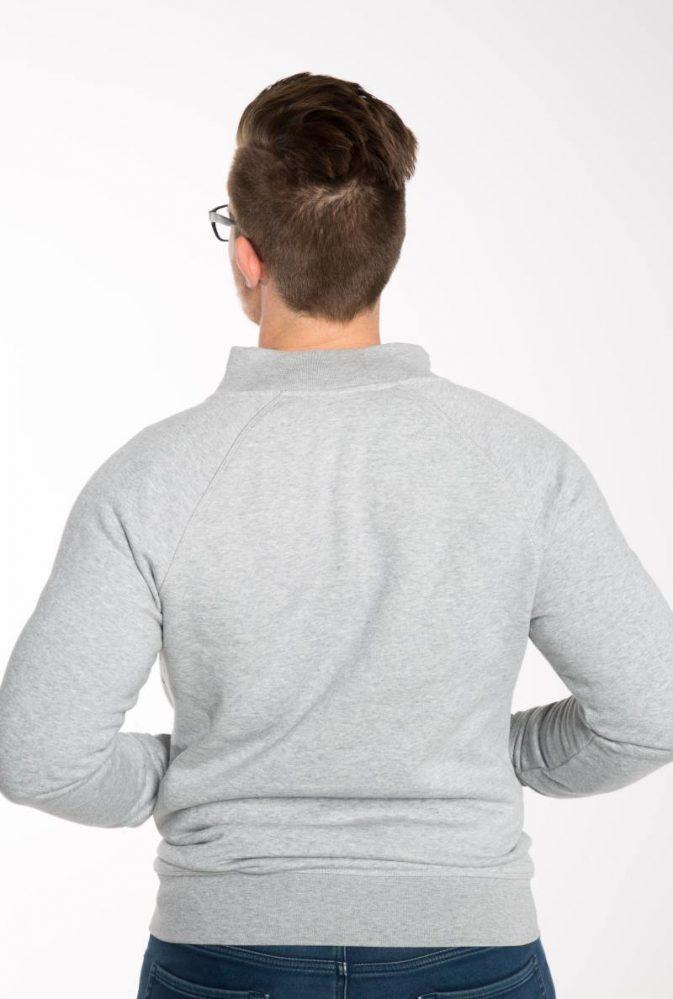 Bio Baumwoll Reissverschluss Sweatshirt