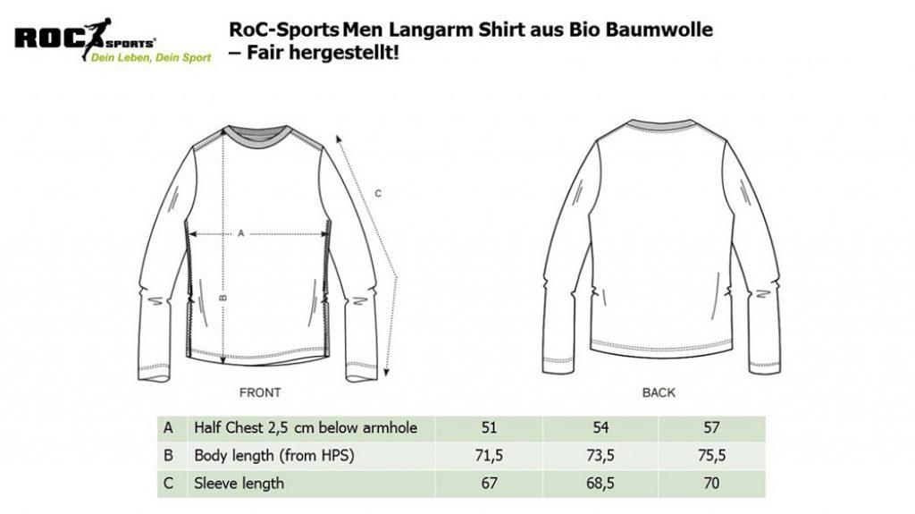 RoC-Sports | Shop | Bekleidung | Bio Baumwoll Langarm Shirt