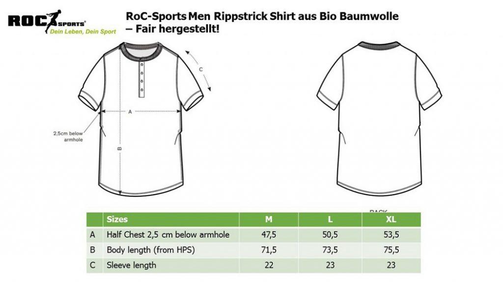 RoC-Sports | Shop | Bekleidung | Bio Baumwoll Shirt Rippstrick