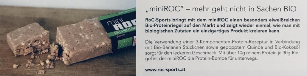 Pressespiegel: Ich bin sehr stolz darauf, mit ROC-Sports das vielfältigste Bio-Sportnahrungssortiment am Markt anbieten zu können!