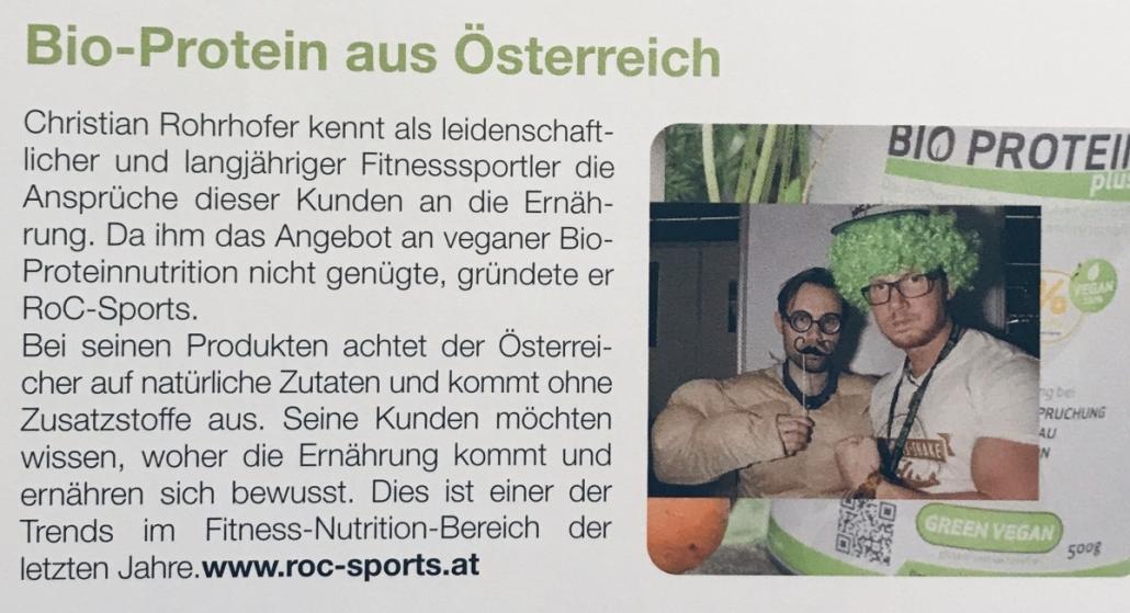 Pressespiegel: Mal ein etwas anderes Foto (entstanden auf der FIBO), aber dennoch ein cooler Artikel über ROC-Sports.