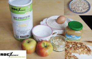 Zutaten für RoC-Sports Bio Protein Apfel-Streusel Kuchen