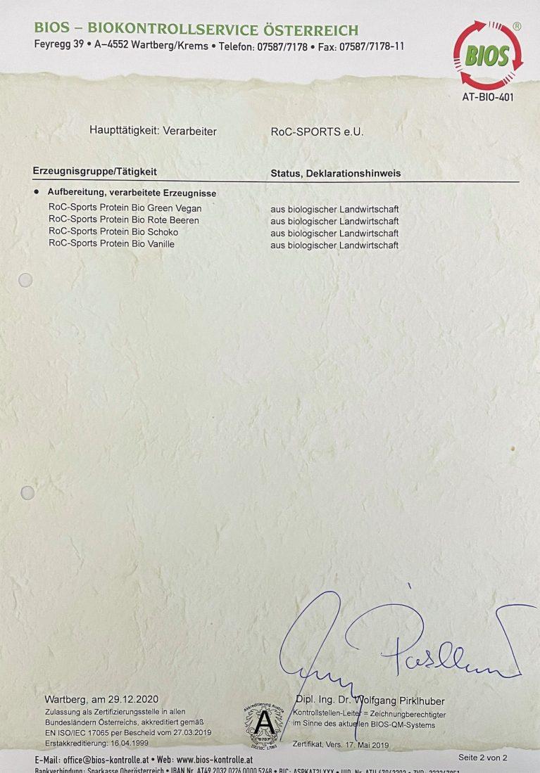 ROC-Sports | Bio Zertifikat