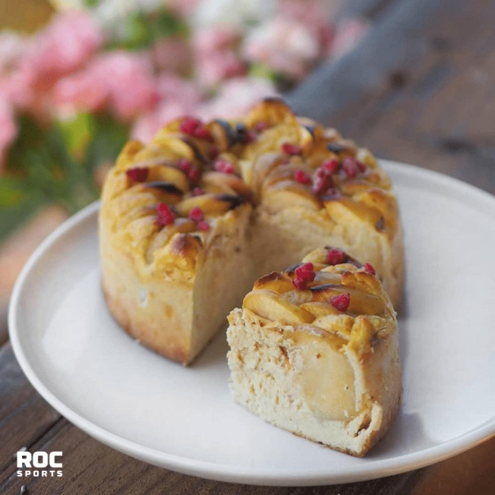 RoC-Sports | Blog | Rezepte | Zuckerfreier Apfel-Topfen Kuchen