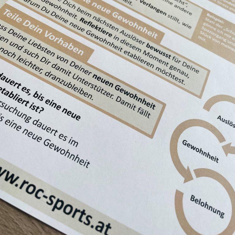 ROC-Sports | Gewohnheiten ändern | Checkliste