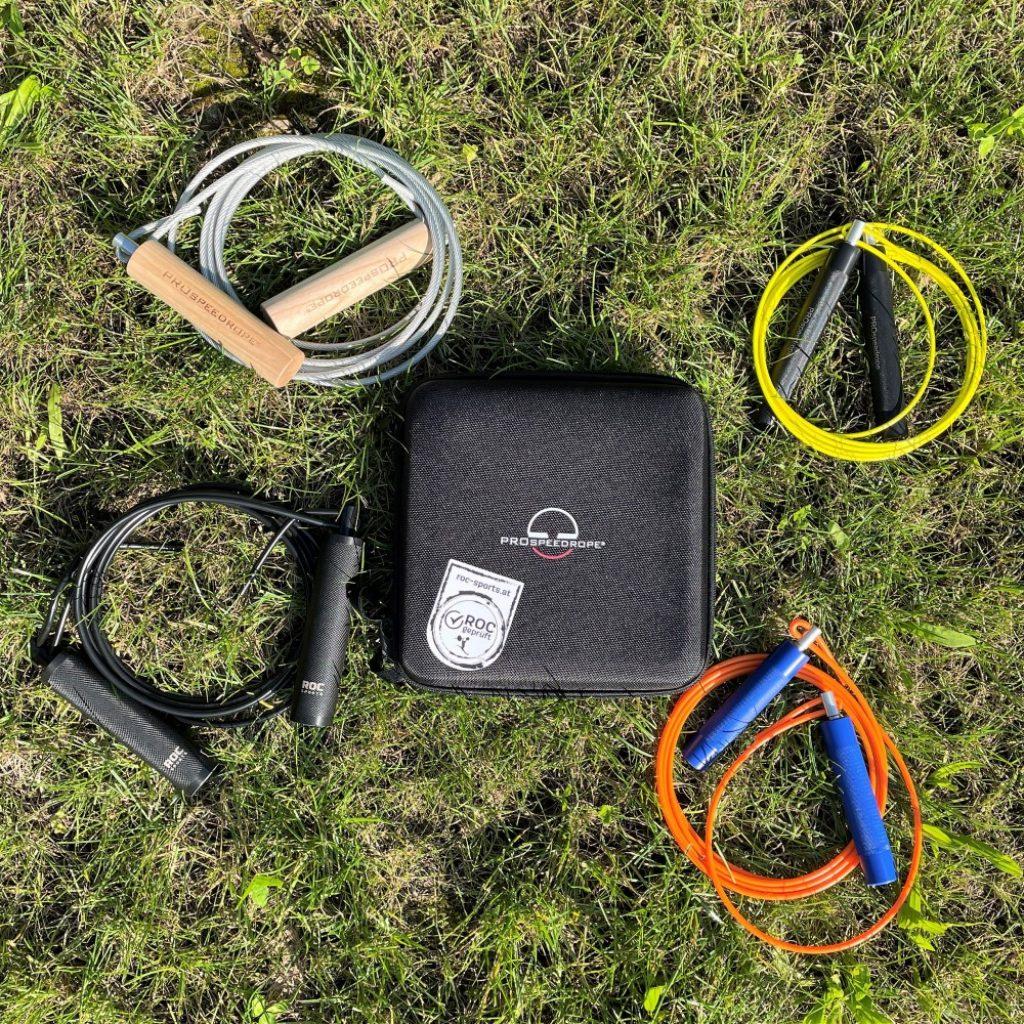 ROC-Sports Springseil | Jumprope | Kraft- und Ausdauertraining | Profi-Ausführung